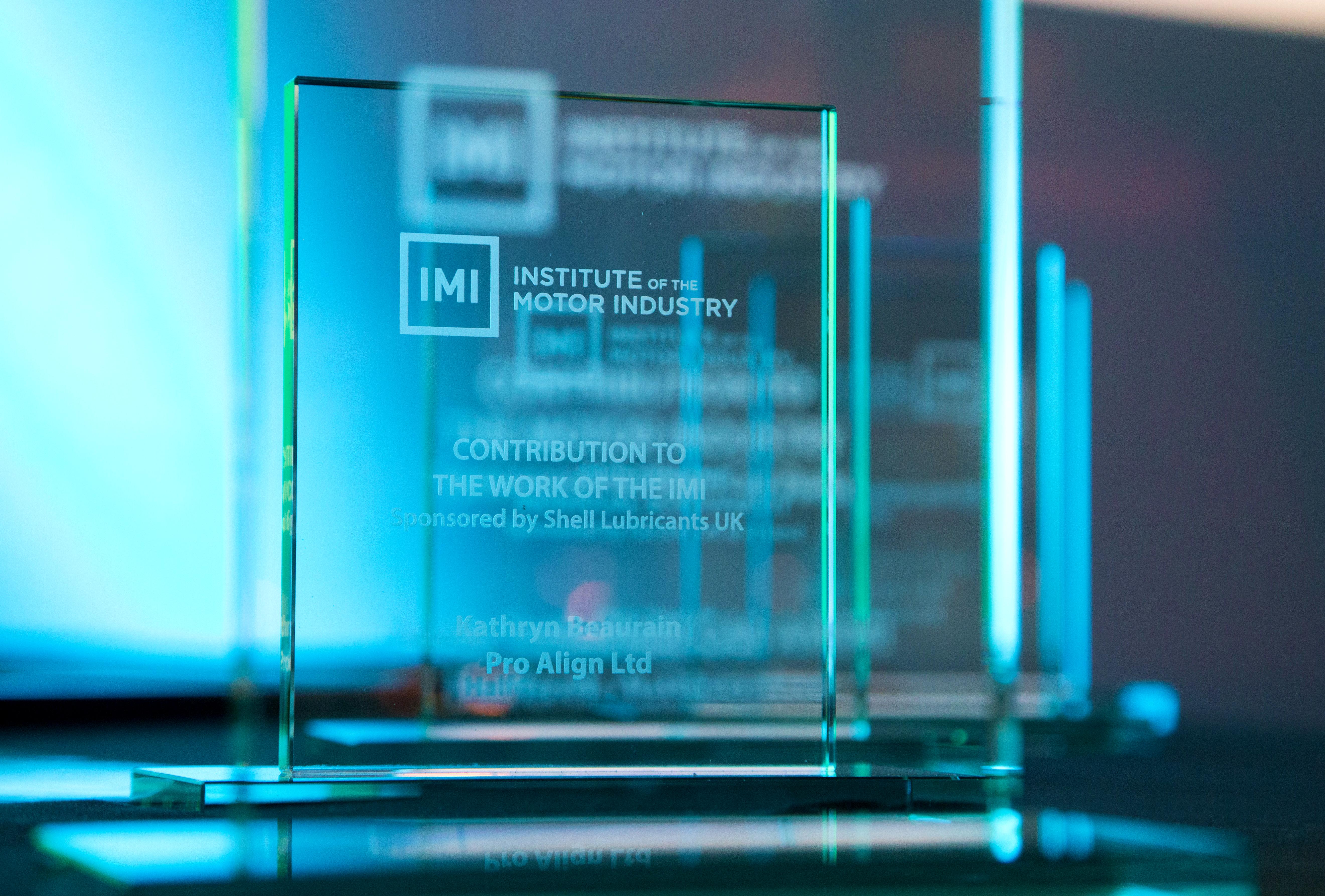 Pro-Align receives IMI Award